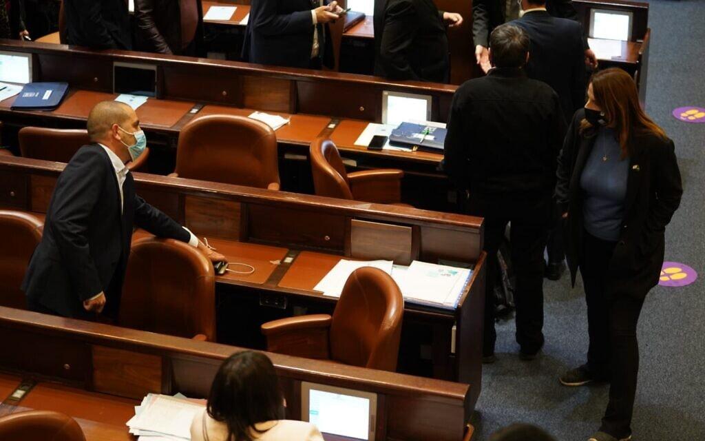 מיכל שיר (מימין) במליאת הכנסת, 21 בדצמבר 2020 (צילום: דני שם טוב/דוברות הכנסת)