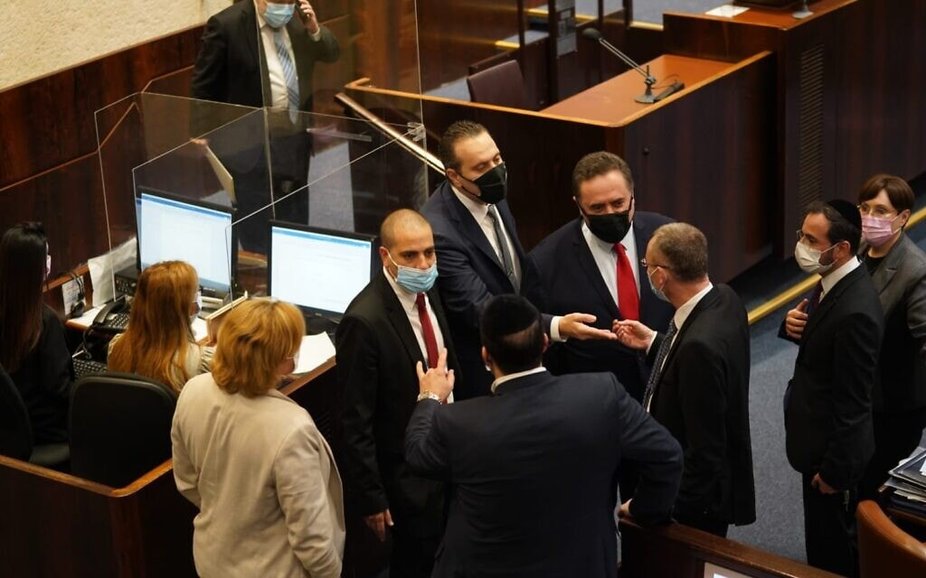 מליאת הכנסת רגע לפני פיזור הכנסת ה-23, 22 בדצמבר 2020 (צילום: דוברות הכנסת)
