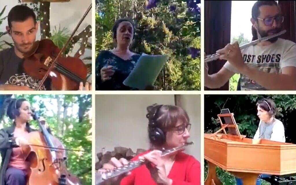 """""""באך מהמרפסת"""", צילום מסך מתוך היוטיוב של הפרויקט"""