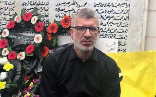 """ספואת פריג', סגן יו""""ר הפלג הדרומי בתנועה האיסלאמית, באנדרטה לזכר נרצחי הטבח בכפר קאסם"""