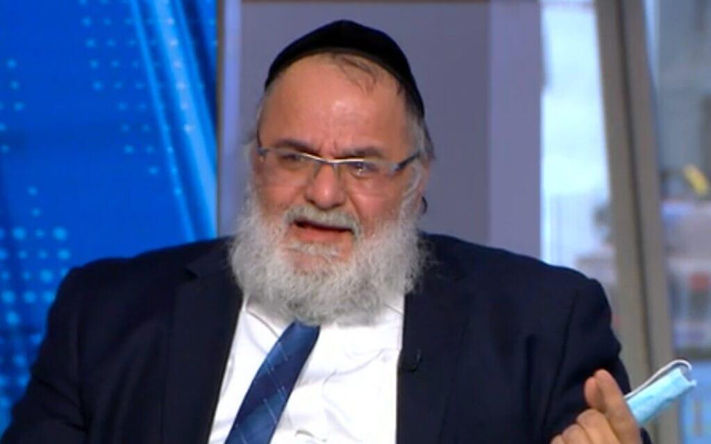 """הרב בועז נקי בתוכנית """"פגוש את העיתונות"""", 23 בינואר 2021 (צילום: צילום מסך, ערוץ 12)"""