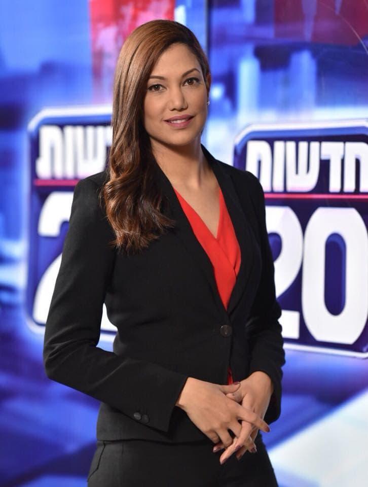 """מגישת החדשות של ערוץ 20, ליטל שמש (צילום: ערוץ 20, יח""""צ)"""