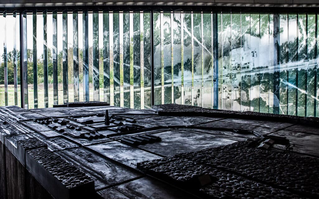 דגם של מחנה ההשמדה שמוצג במוזיאון (צילום: באדיבות המוזיאון הממלכתי במיידנק)