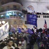 הפריצה לקפיטול והפגנות השינאה נגד יצחק רבין, צילומי מסך