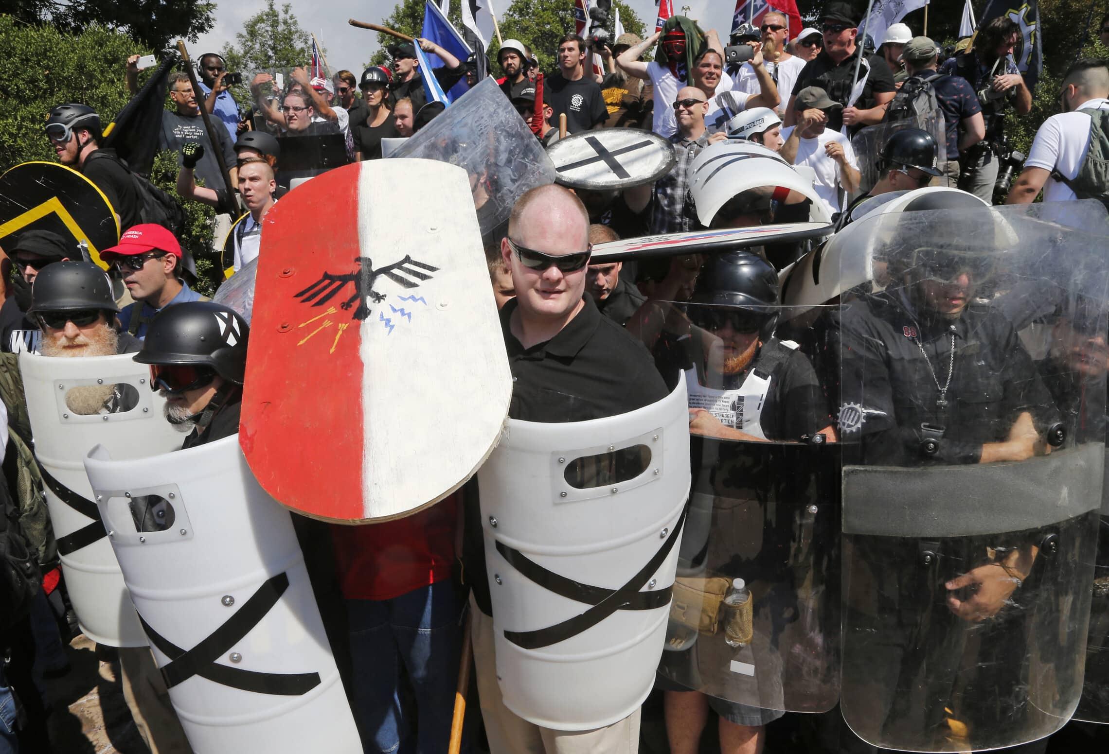 ההפגנה בשרלוטסוויל, 8 ביולי 2017 (צילום: AP Photo/Steve Helber)