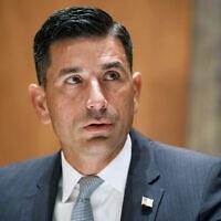השר בפועל לביטחון המולדת של ארצות הברית, צ'אד וולף, 23 בספטמבר 2020 (צילום: Greg Nash/Pool Photo via AP, File)