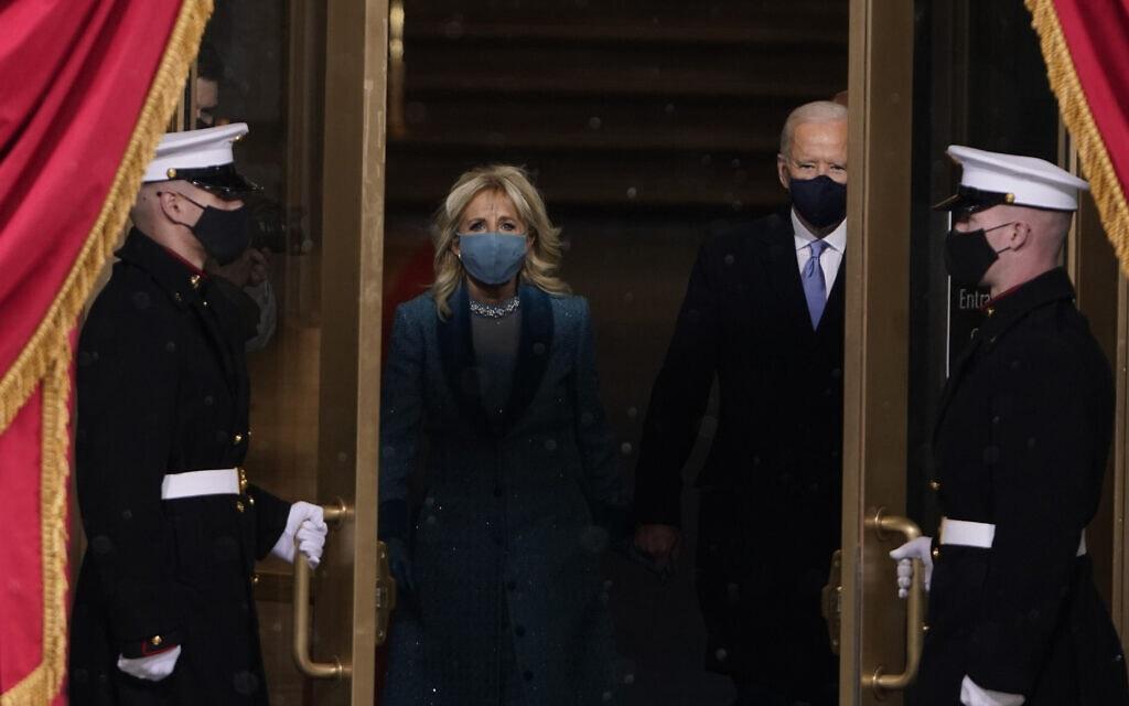 ג׳ו ביידן נכנס להשבעה (צילום: AP Photo/Patrick Semansky, Pool)