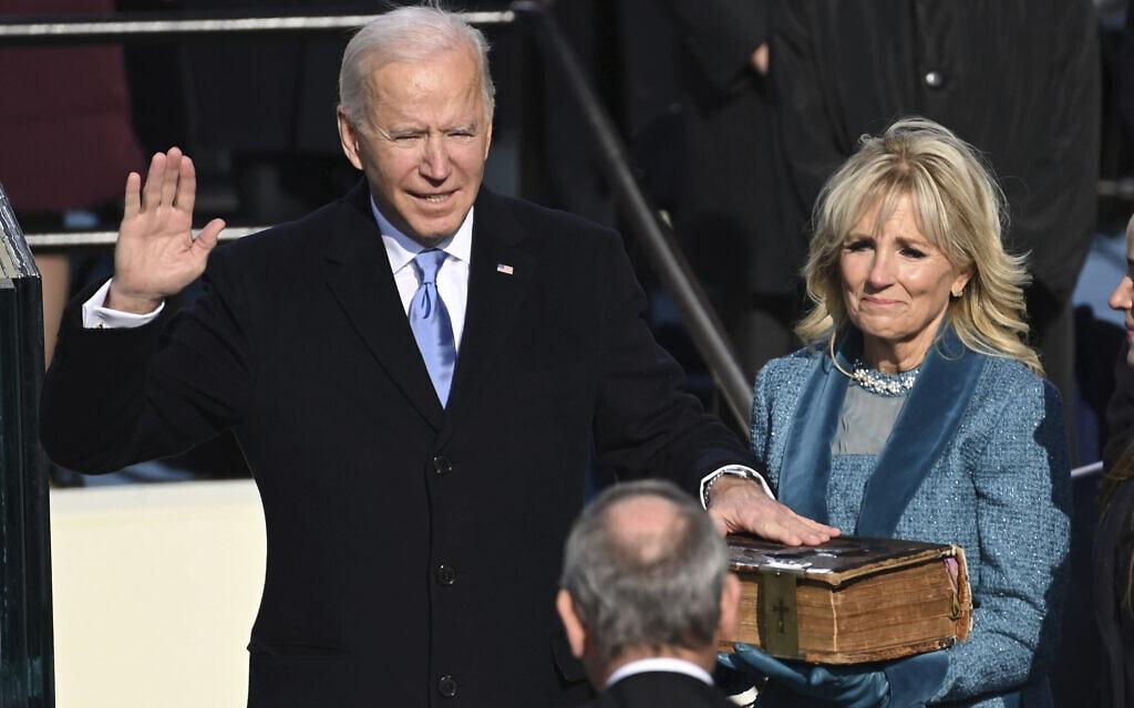 ג׳ו וג׳יל ביידן בהשבעה לנשיאות ארהֿ״ב (צילום: Saul Loeb/Pool Photo via AP)