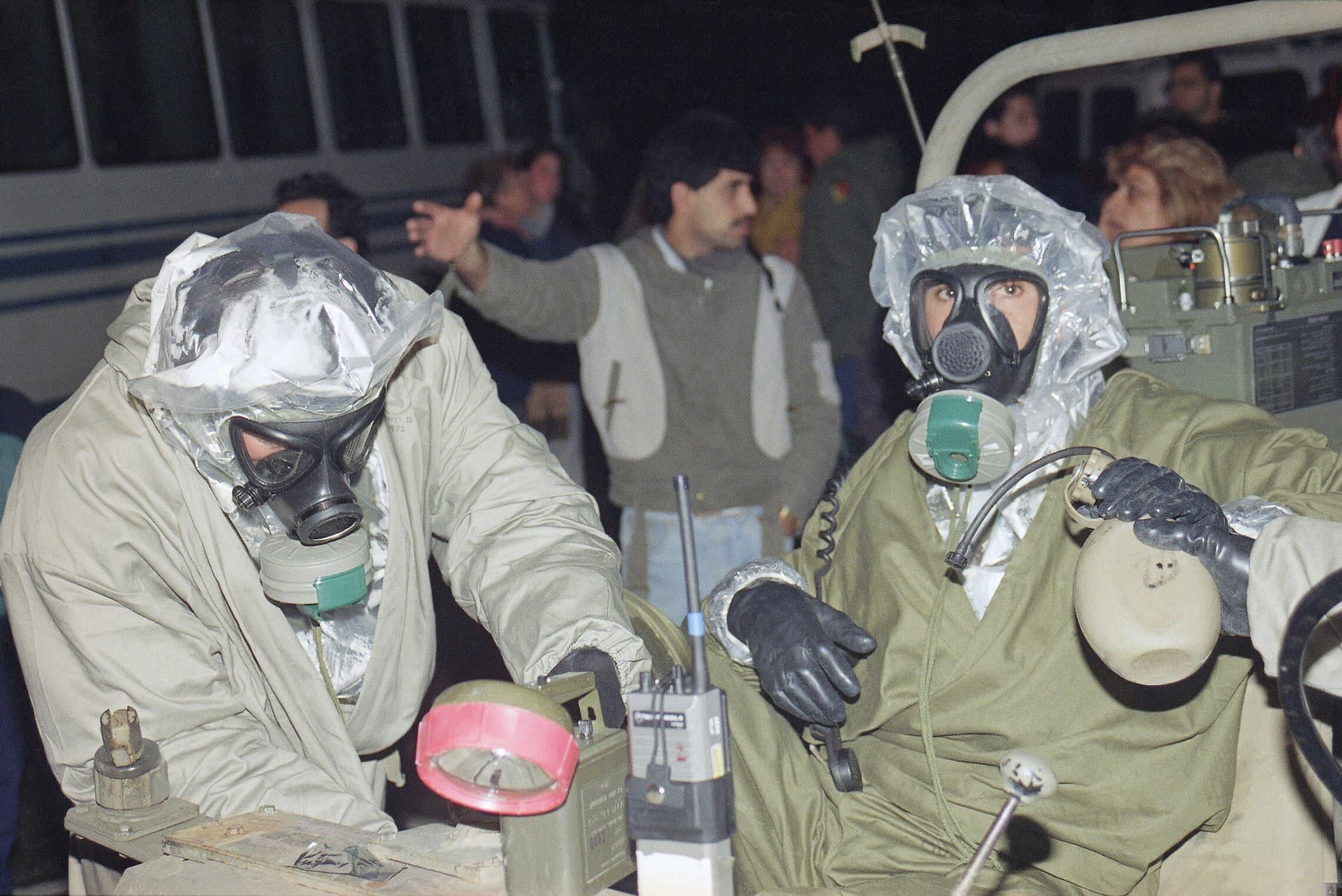 מלחמת המפרץ בישראל, ינואר 1991 (צילום: AP Photo/Max Nash)