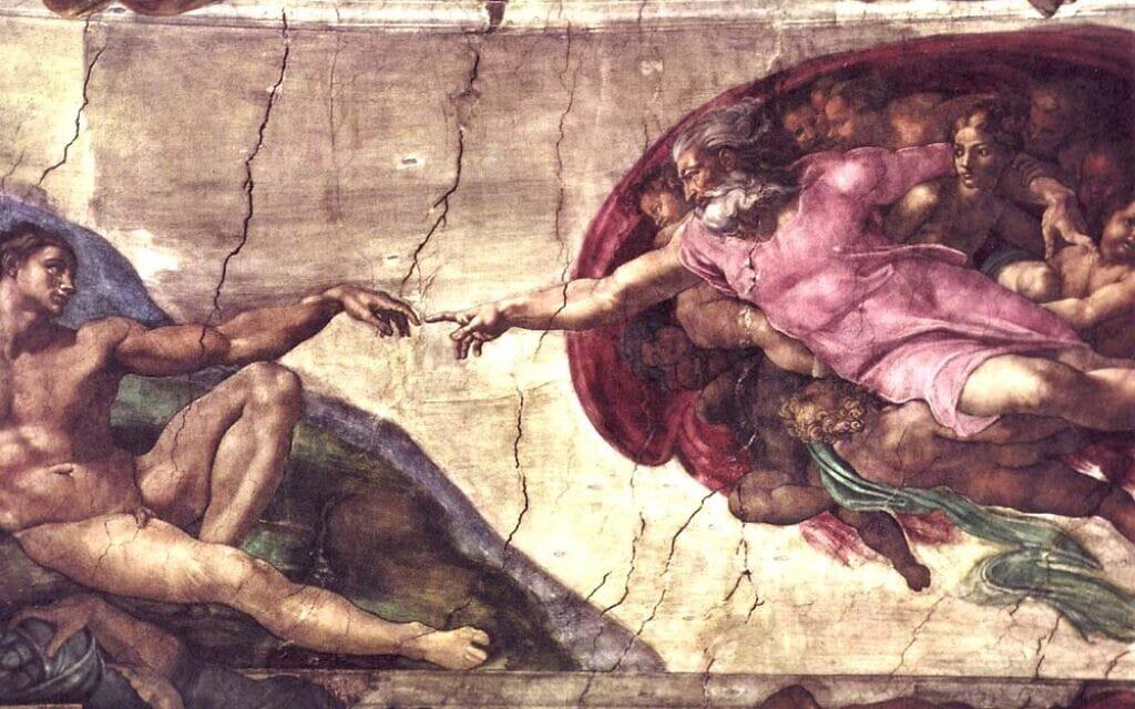 בריאת האדם, הקפלה הסיסטינית, מיכאלאנג'לו