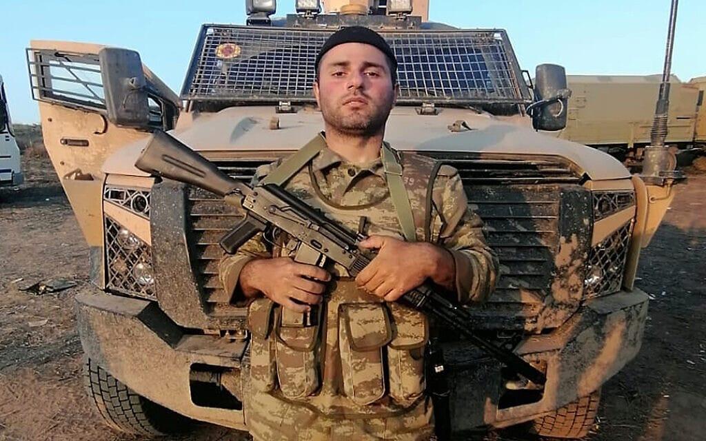דוד סדאייב ליד הגבול של אזרבייג'ן עם ארמניה, דצמבר 2020 (צילום: באדיבות המצולם)