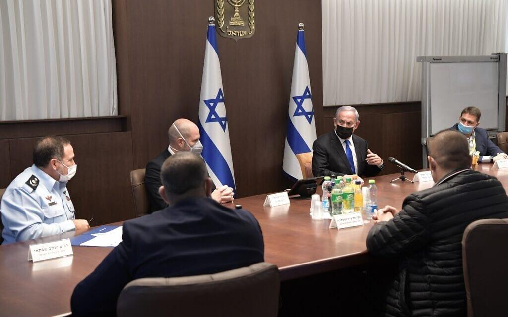 בנימין נתניהו ואמיר אוחנה במפגש עם ראשי רשויות מהמגזר הערבי (צילום: קובי גדעון/לע״מ)