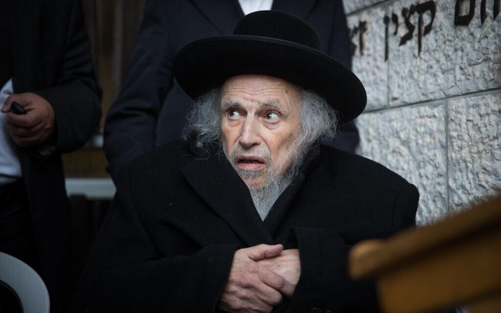 הרב שמואל אוירבך ב-2017 (צילום: יונתן זינדל/פלאש90)