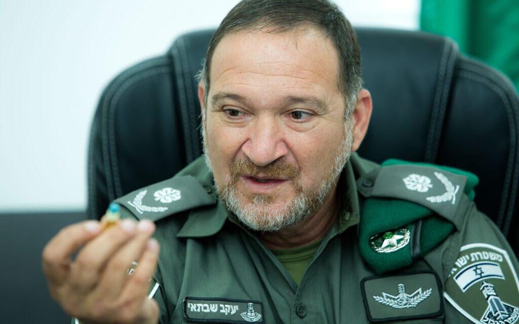 מפקד משמר הגבול קובי שבתאי, 28 בספטמבר 2017 (צילום: משה שי, פלאש 90)