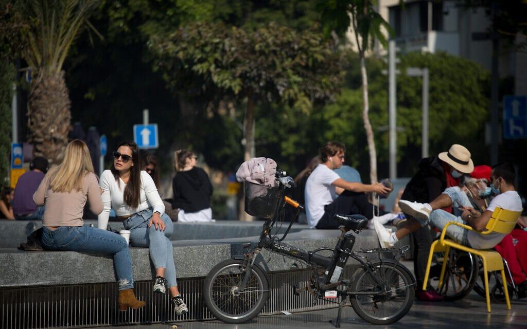 תל אביב, 4 בינואר 2021 (צילום: מרים אלסטר, פלאש 90)