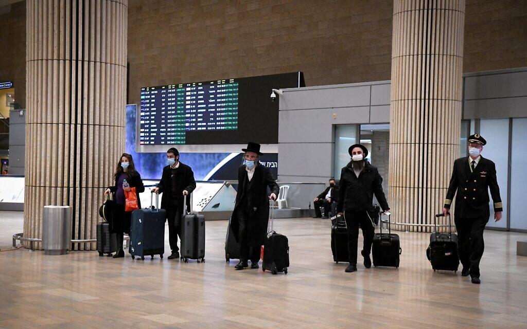 נמל התעופה בן-גוריון, 24 בינואר 2021 (צילום: פלאש 90)