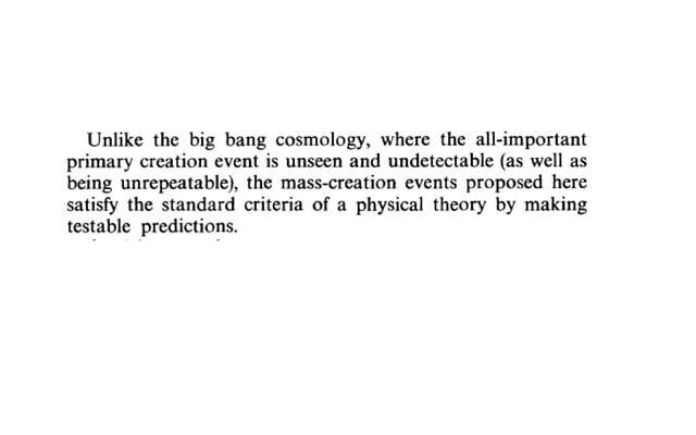 פרד הויל על תיאוריית המפץ הגדול