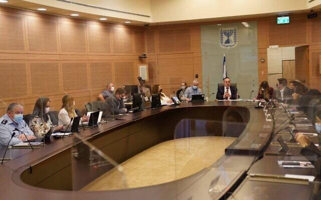 ועדת החוקה של הכנסת ב-13 בינואר 2021 (צילום: דני שם טוב/דוברות הכנסת)