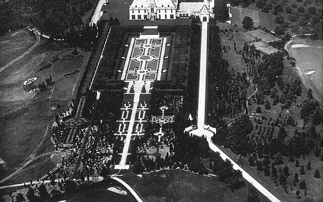 אחוזתו של אוטו הרמן קאהן מהאוויר (צילום: רשות הציבור)