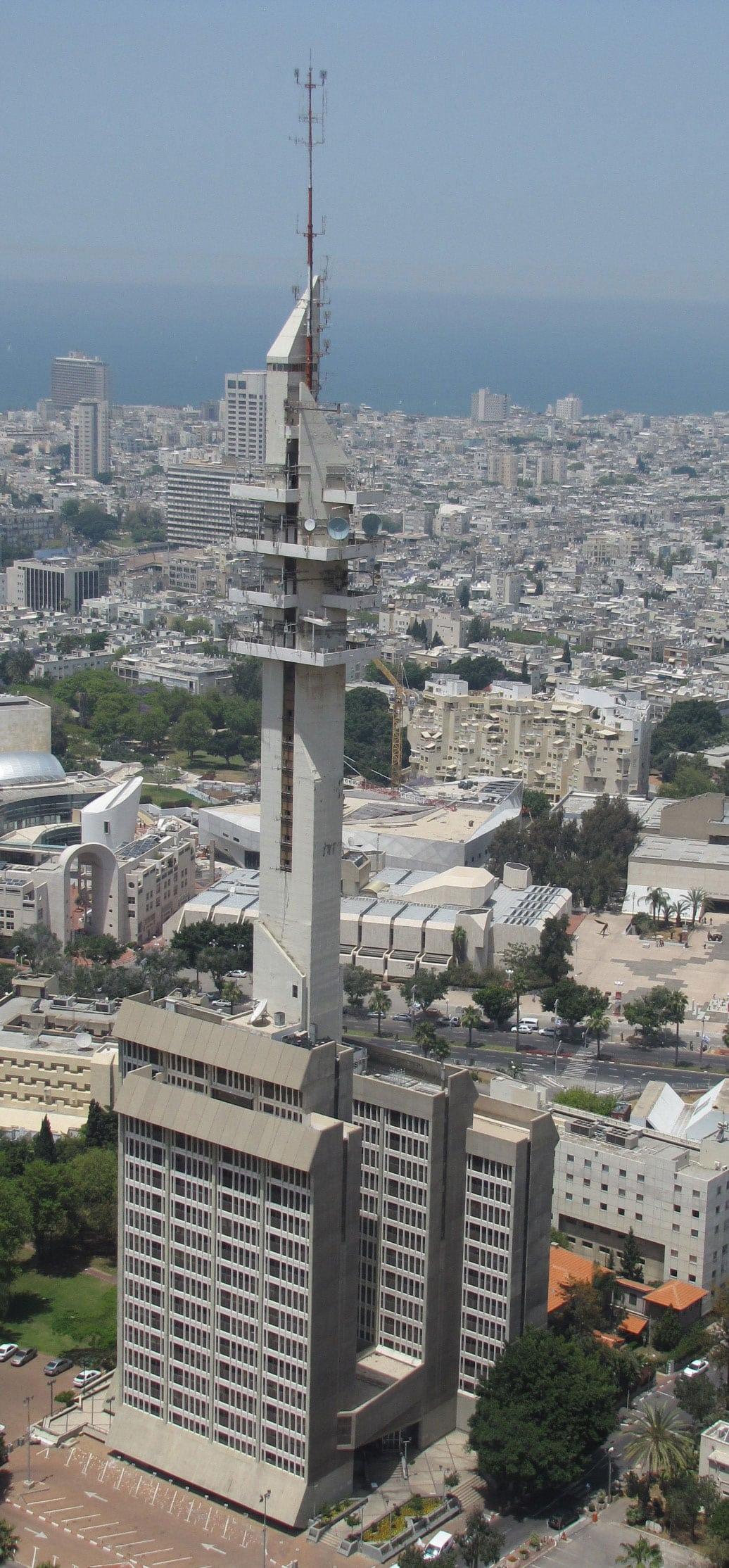 מגדל מרגנית המפורסם בקריה, בסוף שנות ה-80 (צילום: ויקיפדיה)