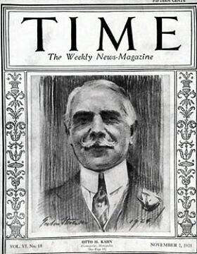 אוטו הרמן קאהן על השער של מגזין טיים, 1925 (צילום: רשות הציבור)