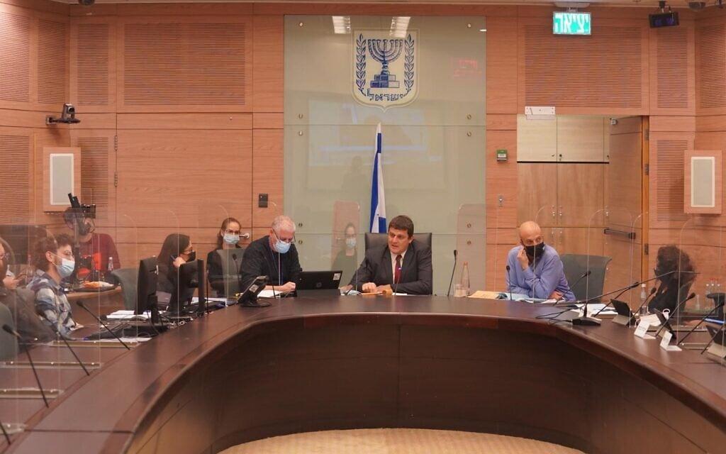 דיון על הגדלת הקנסות בוועדת חוקה, 28 בינואר 2021 (צילום: דוברות הכנסת / שמוליק גרוסמן)
