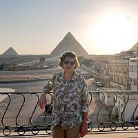 אמירה אורון בביתה בקהיר (צילום: באדיבות המצולמת)