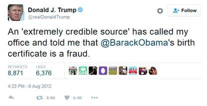 ציוץ של טראמפ
