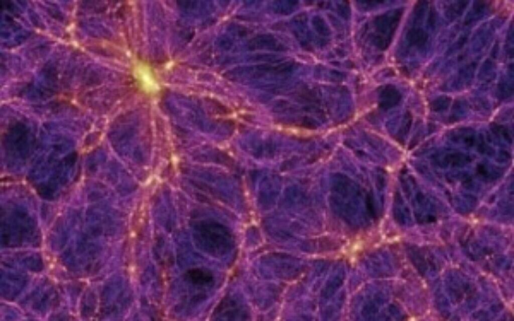 הרשת הקוסמית (צילום: Virgo Consortium)