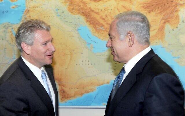 בנימין נתניהו ורוברט וקסלר (צילום: S.Daniel Abraham Center for Middle East Peace)
