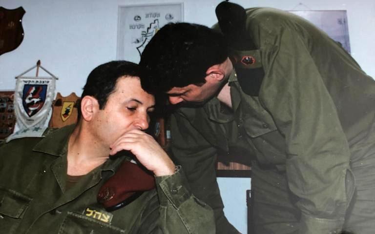 יוני קורן ואהוד ברק (צילום: באדיבות יוני קורן)