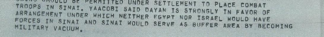 """סיכום פגישת יעקובי זורהלן, שגרירות האמריקאית בתל-אביב, 16 במאי 1973, שנשלח על ידי השגרירות האמריקאית בתל אביב למחלקת המדינה בארה""""ב"""