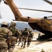 """תרגיל משותף של יחידת אגוז וחיל האוויר בקפריסין. (צילום: צילום: דובר צה""""ל.)"""