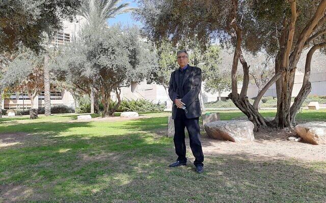 פרופ' עליאן אלקרינאוי באוניברסיטת בן גוריון בבאר שבע, פברואר 2021 (צילום: עומר שרביט)