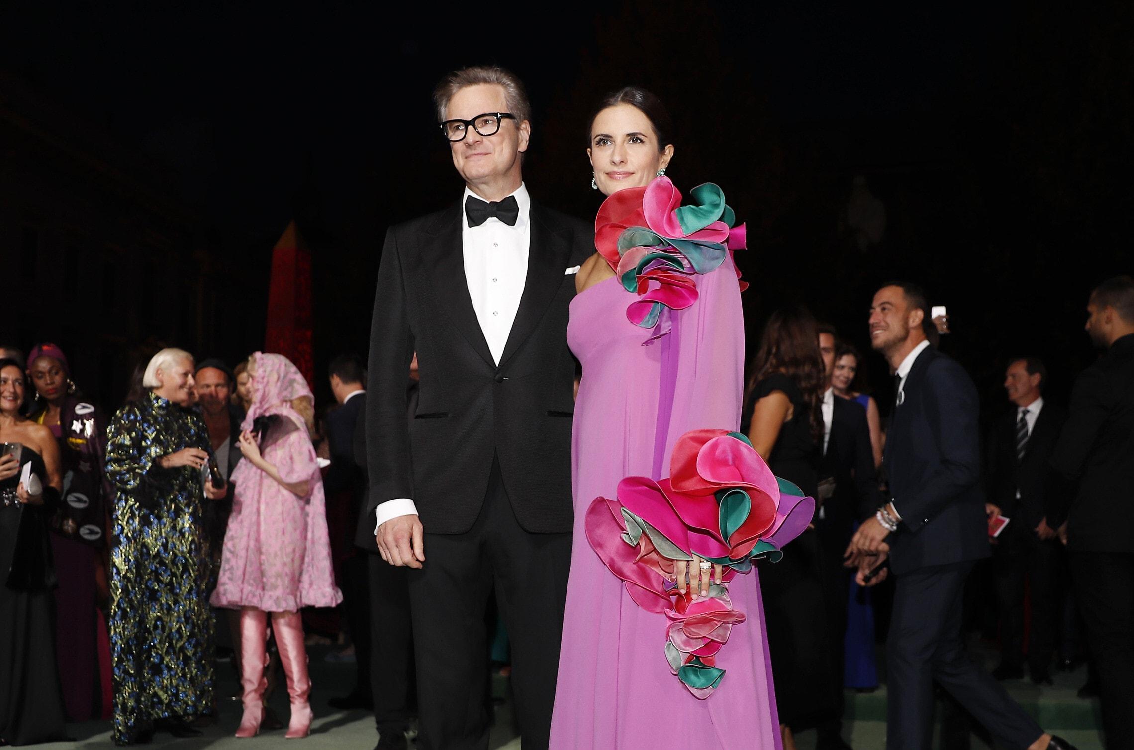קולין פירת' ואשתו לשעבר ליביה ג'וג'ולי ב-2018 (צילום: AP Photo/Antonio Calanni)