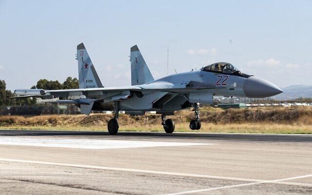 מטוס קרב רוסי סוחוי Su-35 (צילום: AP Photo/Alexander Zemlianichenko)