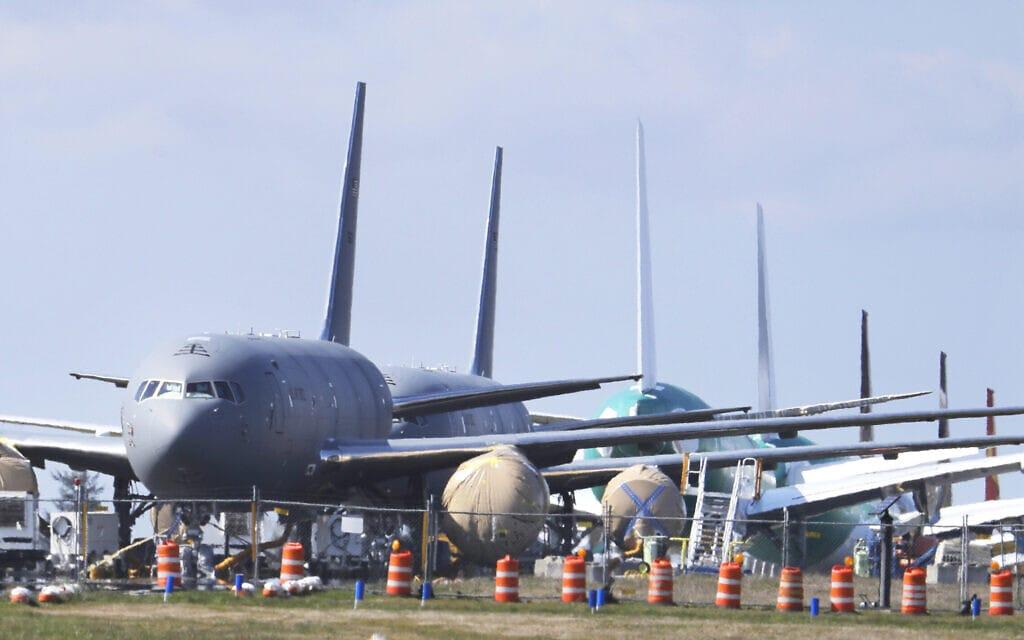 מטוסי KC-46 של בואינג (צילום: AP Photo/Ted S. Warren)