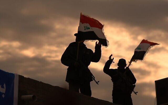 לוחמי מיליציה בתמיכת איראן בעיראק, ינואר 2020 (צילום: AP Photo/Anmar Khalil)