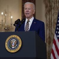 ג׳ו ביידן בנאום מדיניות החוץ שלו (צילום: AP Photo/Evan Vucci)
