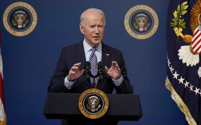 נשיא ארצות הברית ג'ו ביידן, 25 בפברואר 2021 (צילום: Evan Vucci, AP)
