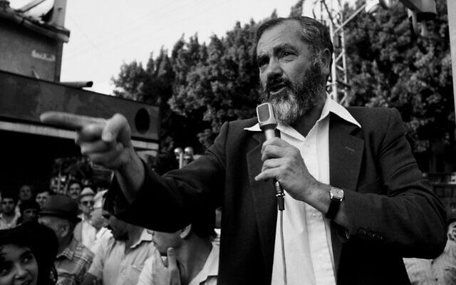 מאיר כהנא ב-1985 (צילום: משה שי/פלאש90)