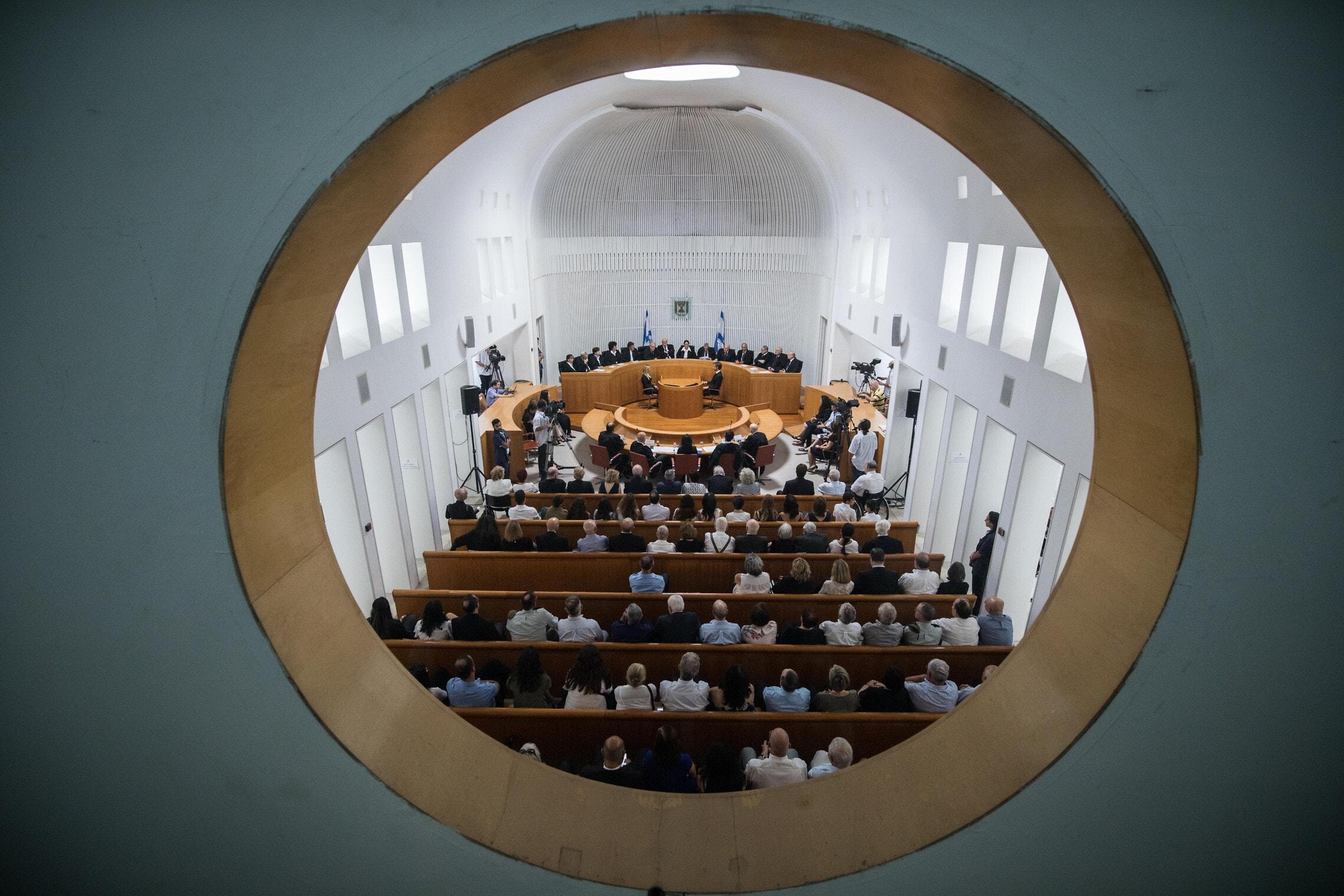 מבט על אולם בית המשפט העליון (צילום: הדס פרוש/פלאש90)