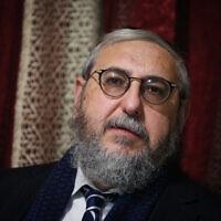 הרב חיים אמסלם (צילום: דוד כהן/פלאש90)