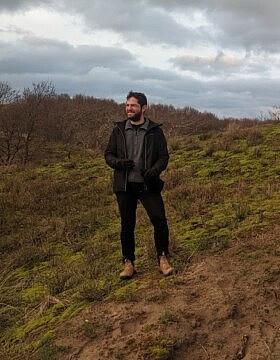 גיל כהן בפארק חולות האג בהולנד, 10 בינואר 2021 (צילום: באדיבות המצולם)