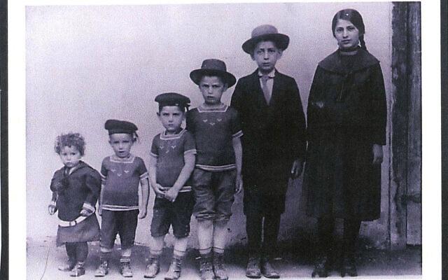ילדי משפחת אונרייך בצ'כוסלובקיה, 1913 (צילום: באדיבות דוד בר-און)