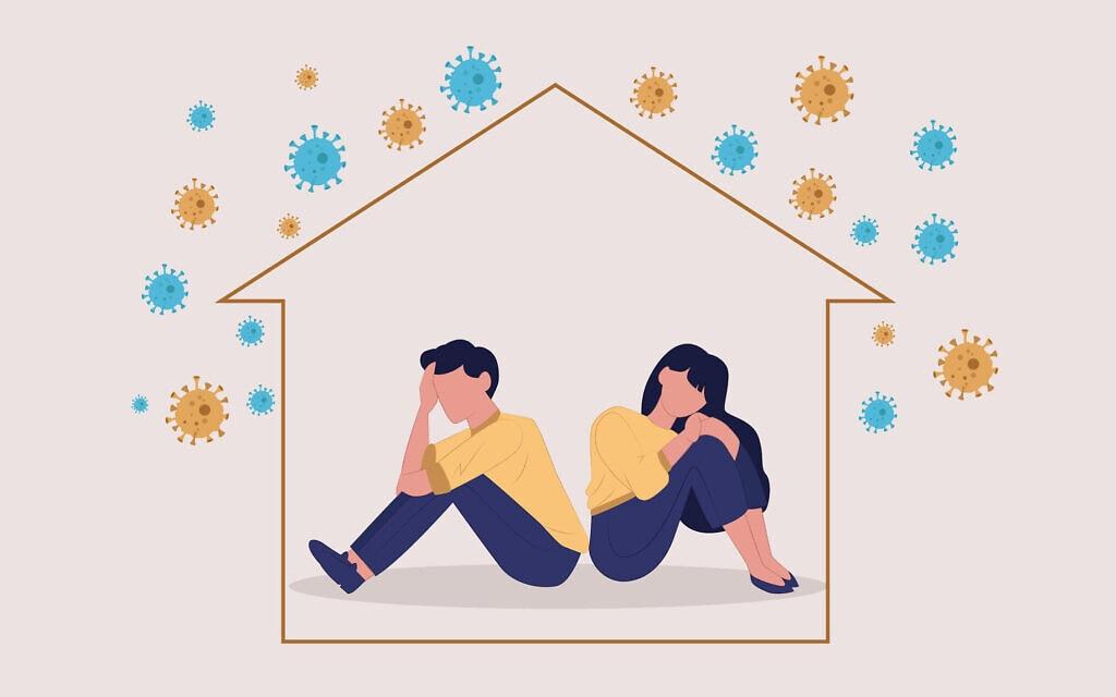 זוג סגור בבית. אילוסטרציה (צילום: iStock)