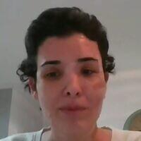 שירה איסקוב, צילום מסך מסרטון שלה שעלה בערוץ הכנסת
