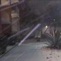 הסופה בטקסס, צילום מסך מסקיי ניוז