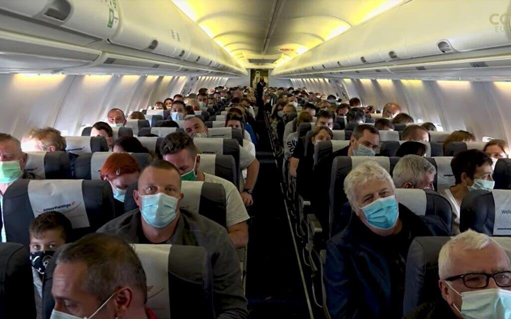 טיסה לשום מקום, צילום מסך מכתבה של  CGTN Europe