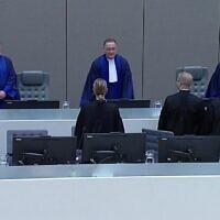 הטריבונל לפשעי מלחמה בהאג, צילום מסך מכתבה של  euronews